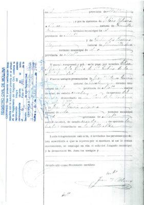 Elisa López, partida de nacimiento